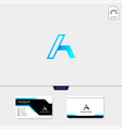 initial a logo template and logo inspiration free vector image vector image
