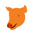 isolated pig head vector image