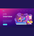 job interview concept landing page vector image vector image
