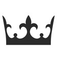 king crown black icon monarch decoration vector image vector image