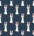 llama in rabbit ears seamless pattern vector image vector image