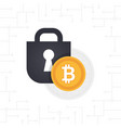 locked bitcoin coin vector image vector image