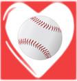 love baseball vector image vector image