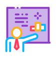 man presentation icon outline vector image vector image