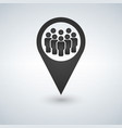 meeting point location icon friends nearby drop vector image vector image