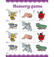 memory game educational game for children vector image