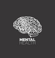 mental health icon logo health awareness vector image vector image