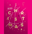 merry christmas abstract minimalist vector image