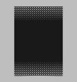 monochrome abstract halftone circle and square vector image vector image