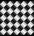 monochrome abstract seamless circle pattern vector image vector image