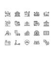park flat line icons set botanical garden vector image