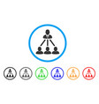 people organization structure rounded icon vector image vector image