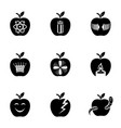 pome icons set simple style vector image vector image