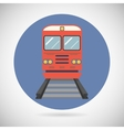 Railway Train Transport Carriage Symbol Railroad vector image vector image