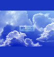 realistic blue sky vector image