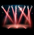 red spotlights background vector image vector image