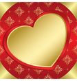 romantic frame with heart and tracery vector image vector image