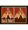 Sale posters set black friday posters vector image