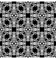 seamless black and white pattern in arabic or vector image vector image