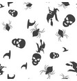 set halloween pattern seamless vector image