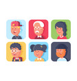 set of avatars with faces vector image