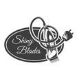 shiny blades barbershop concept electric razor vector image