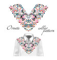 shirt jacket and t-shirt collar pattern vector image vector image