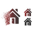shredded dotted halftone open house door icon vector image