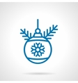 Simple blue line decoration bauble icon vector image vector image