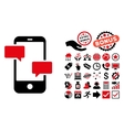 Smartphone Flat Icon with Bonus vector image vector image