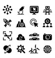 technology icon set vector image vector image