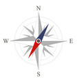 the compass icon vector image