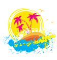 tropical islandAbstract grunge background vector image