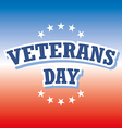 Veterans Day USA banner on red and blue background vector image vector image