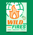 wild fires creative promotional poster vector image vector image