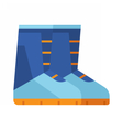 Winter Snowboard Boots Icon vector image vector image