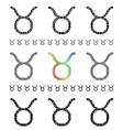 Zodiac Sign Taurus Set vector image vector image