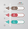 Design template for infographics vector image