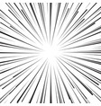 abstract comic book flash explosion radial lines vector image