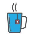 mug of tea colorful line icon business vector image