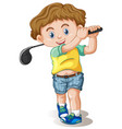 a male golfer character vector image