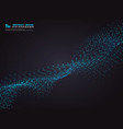 abstract blue particle line technology data base vector image vector image