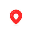 abstract geotag logo and red map pin icon vector image vector image