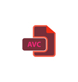 AVC Icon vector image vector image