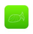 bandana icon green vector image