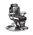 barber chair on white background vector image vector image