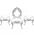 Baroque Rich style furniture vector image vector image
