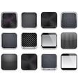 Black app icons vector image vector image