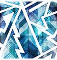 blue grunge geometric seamless pattern vector image vector image