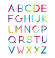 bright font consisting of details of different vector image